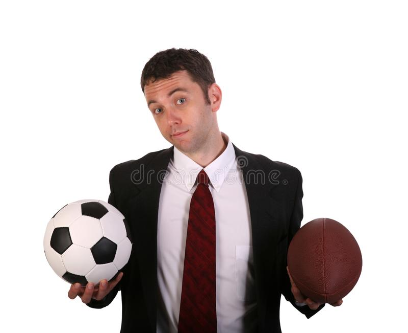橄榄球选择 免版税图库摄影