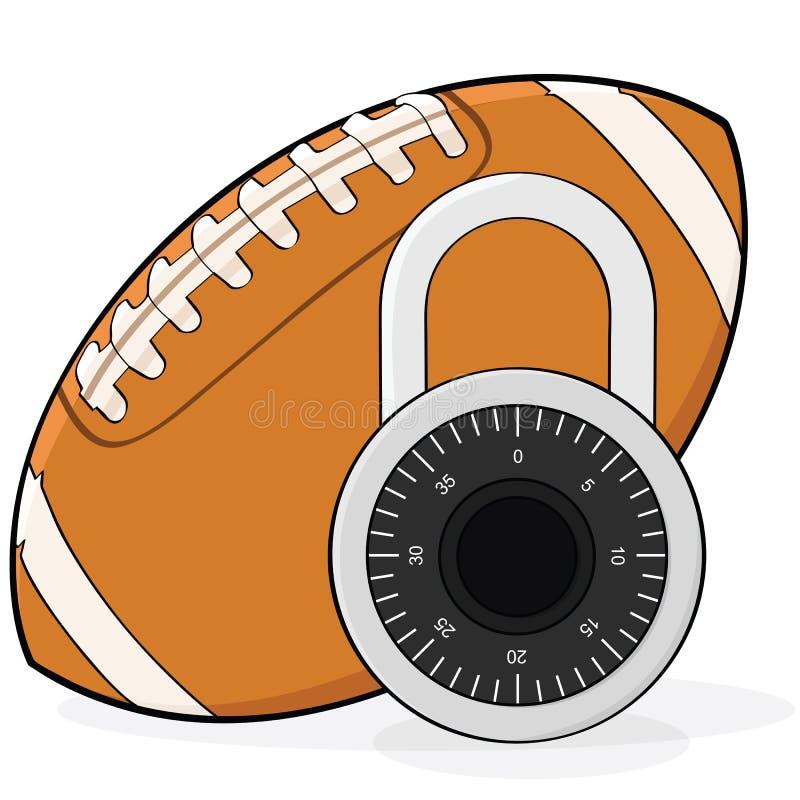 橄榄球锁定 向量例证