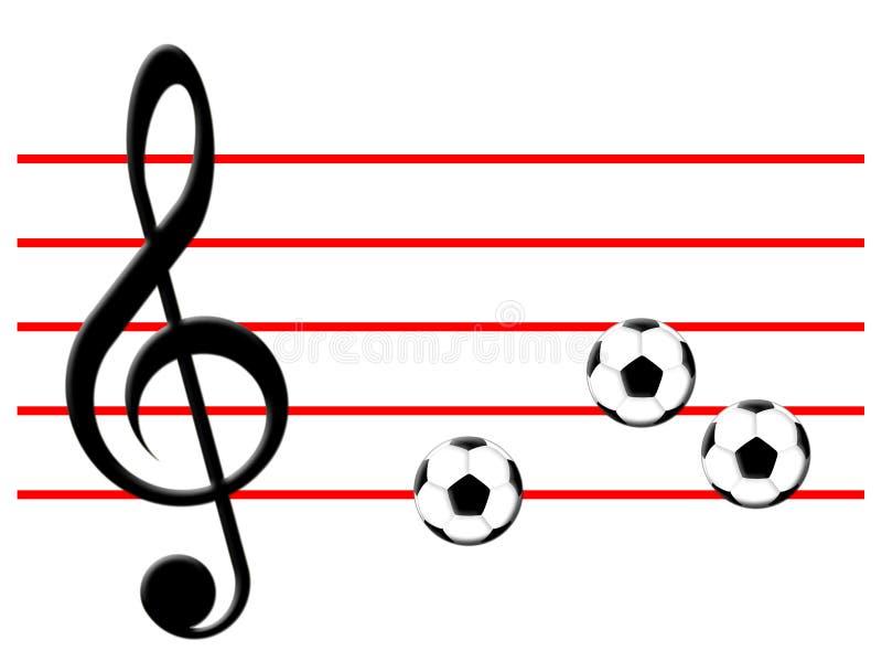 橄榄球音乐 皇族释放例证