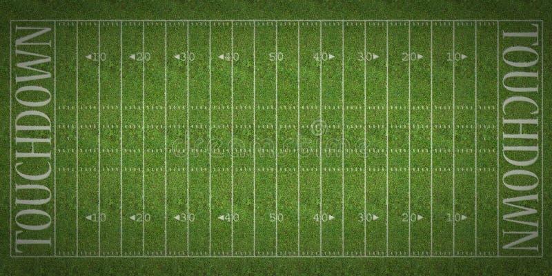 橄榄球领域 向量例证