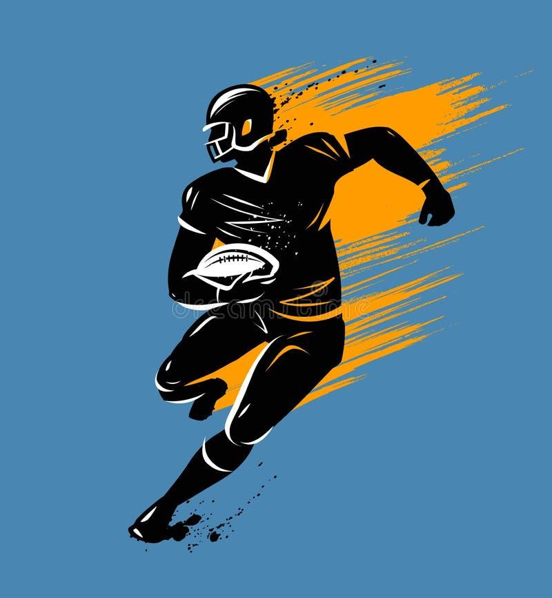 橄榄球,横幅 也corel凹道例证向量 向量例证