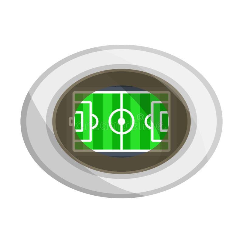 橄榄球,足球场 皇族释放例证