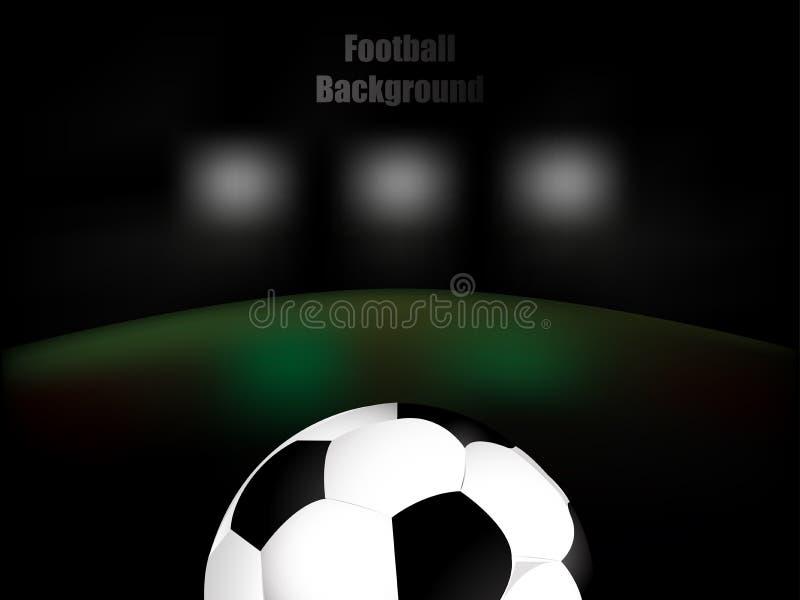 橄榄球,足球,与球的背景例证 向量例证