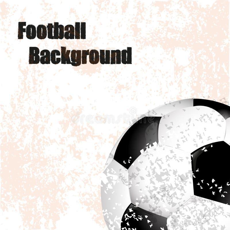 橄榄球,足球,与球的背景减速火箭的例证 库存例证
