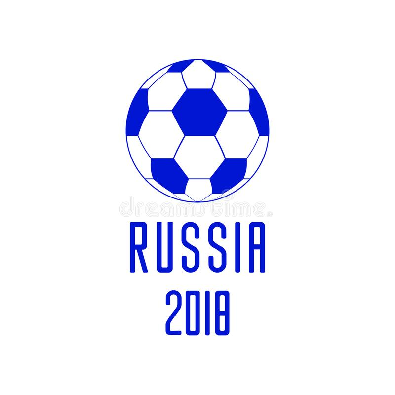 橄榄球2018年世界在俄罗斯传染媒介象的冠军足球 向量例证