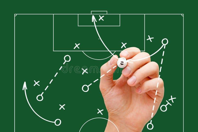 橄榄球经理比赛战略 免版税库存图片