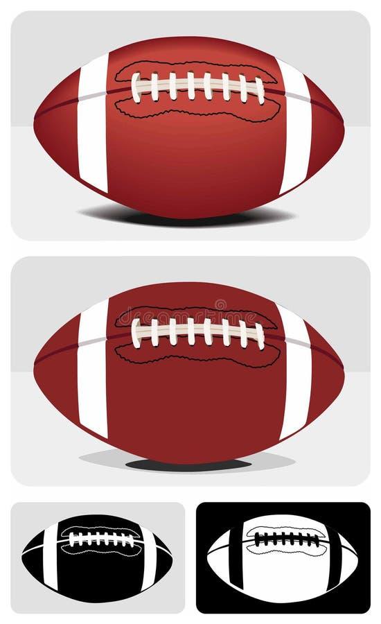 橄榄球 向量例证