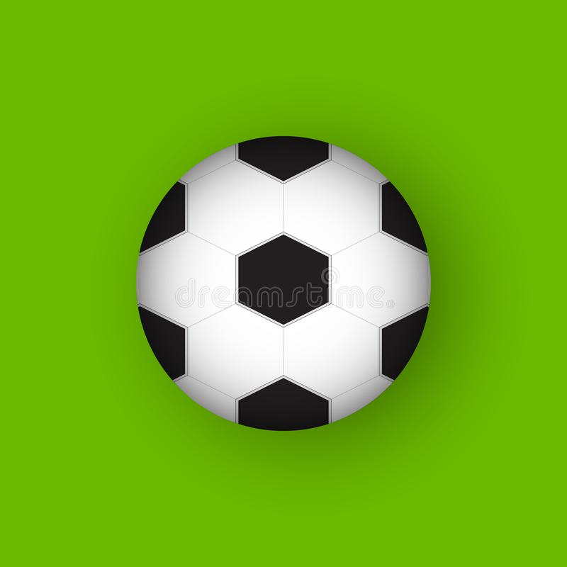 橄榄球3D平的设计传染媒介象 库存例证
