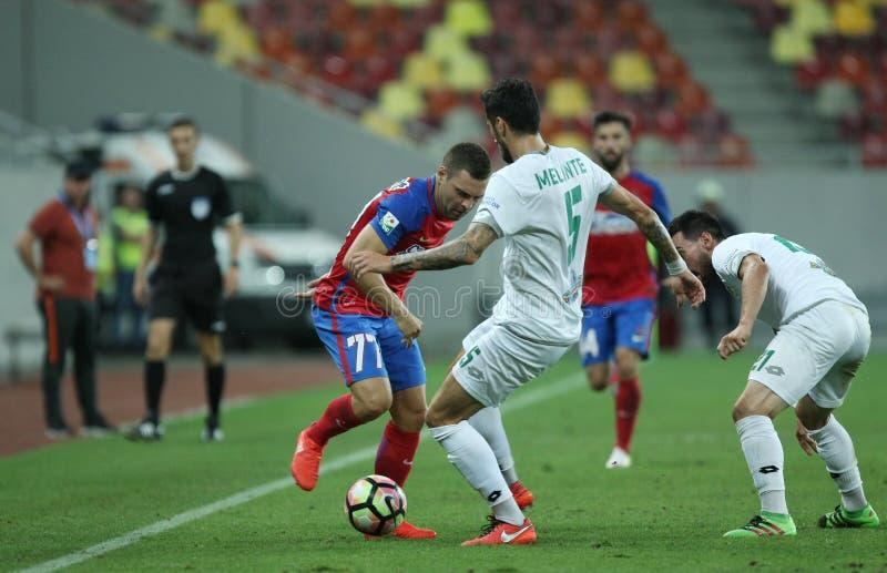 """橄榄球Romania's Liga 1†""""Steaua布加勒斯特†""""Concordia Chiajna 免版税图库摄影"""