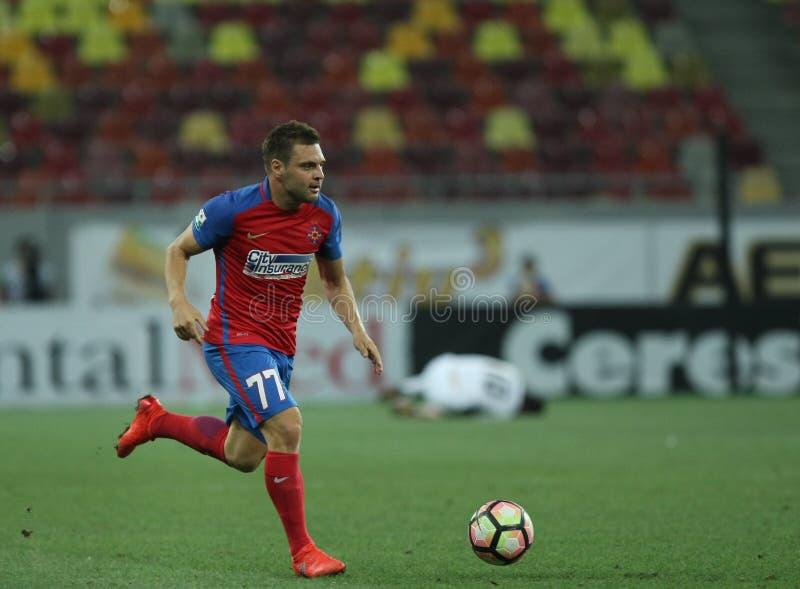 """橄榄球Romania's Liga 1†""""Steaua布加勒斯特对 阿斯特拉久尔久 图库摄影"""