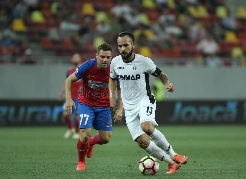 """橄榄球Romania's Liga 1†""""Steaua布加勒斯特对 阿斯特拉久尔久 免版税库存照片"""