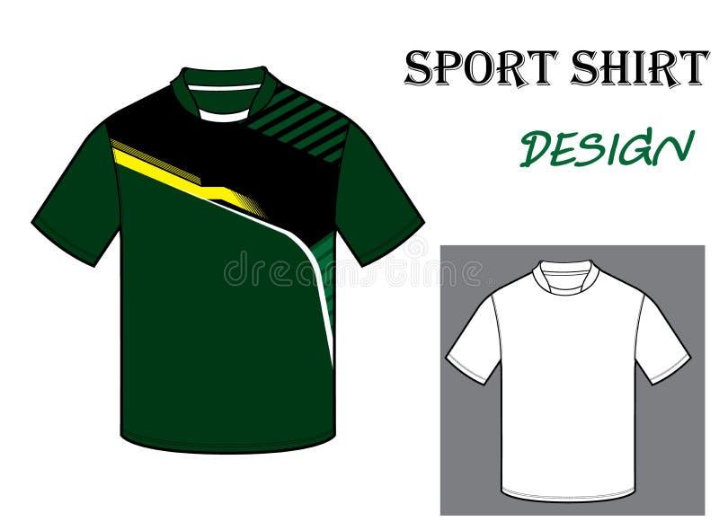 橄榄球T恤杉模板的传染媒介例证 免版税图库摄影