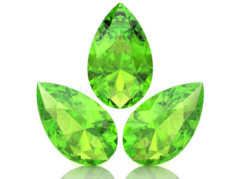 橄榄石 向量例证