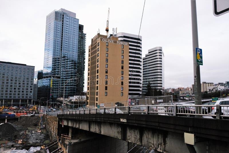 橄榄色的塔,西雅图,华盛顿 免版税库存照片