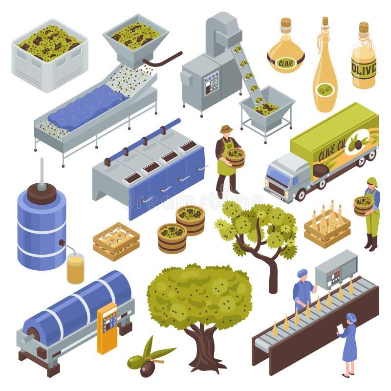橄榄色的生产规定 皇族释放例证