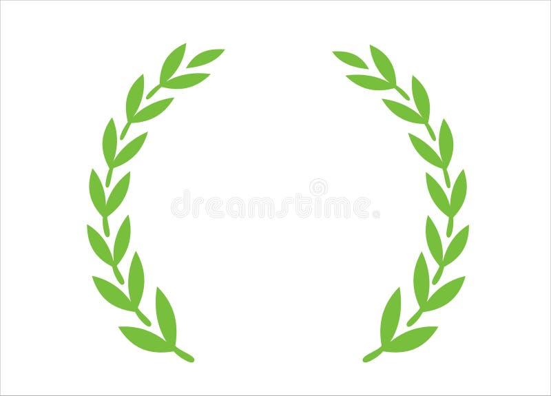橄榄色花圈 向量例证