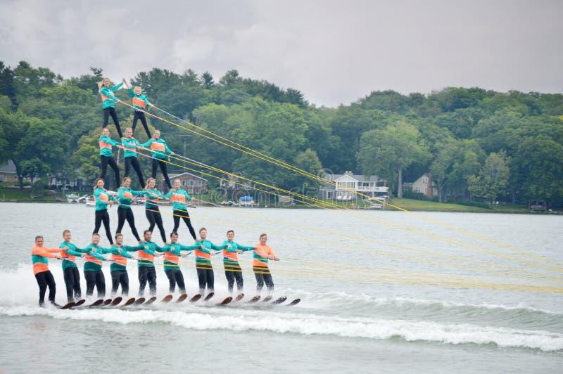 滑水橇金字塔 免版税库存照片