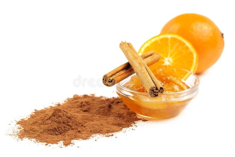 橘子果酱和桂香 免版税库存图片