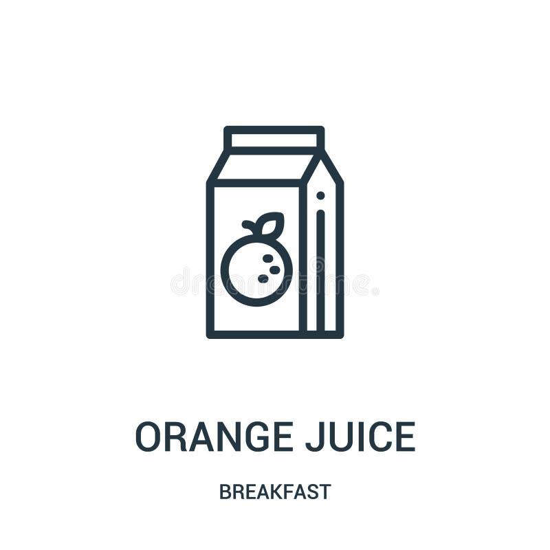 橙汁过去从早餐汇集的象传染媒介 稀薄的线橙汁过去概述象传染媒介例证 皇族释放例证