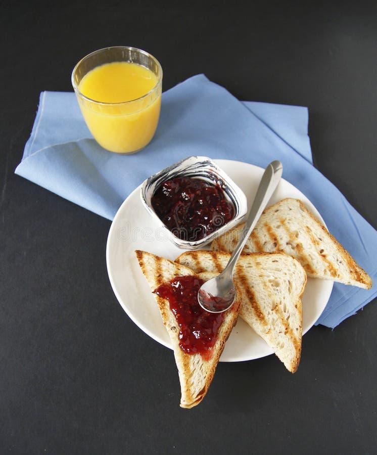 早餐顶视图   图库摄影