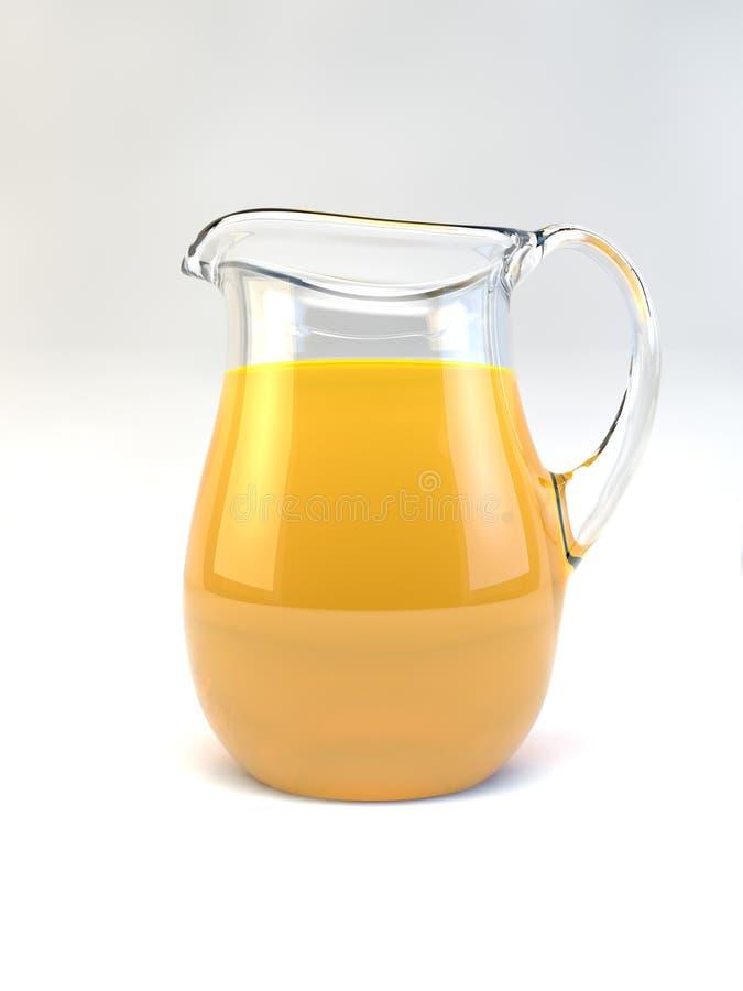 橙汁饮料水罐 免版税库存图片