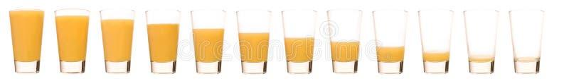 橙汁-时间间隔 免版税库存照片