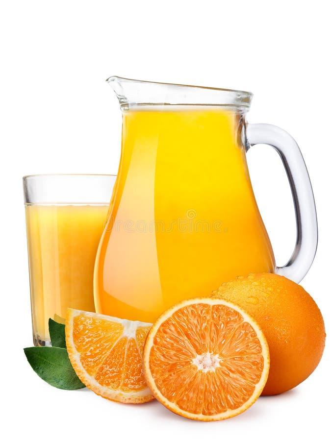 橙汁Pitcherwith highball  免版税库存照片