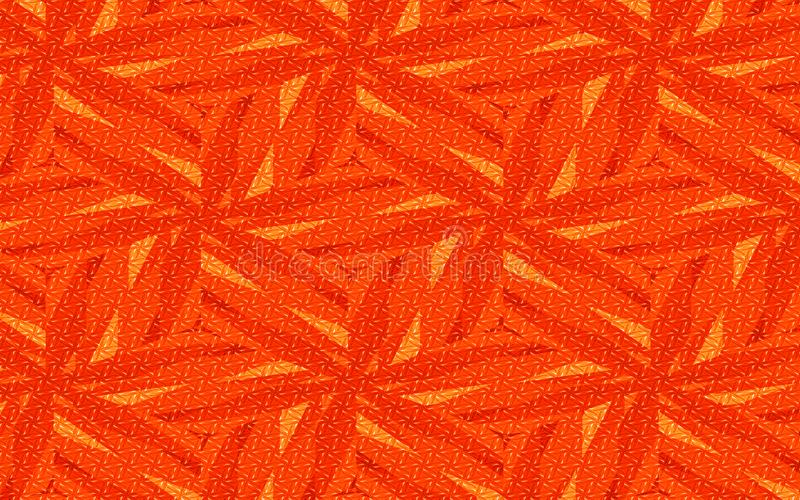 橙红和黄色抽象几何花卉背景 创造性的设计的概略的纹理 向量例证