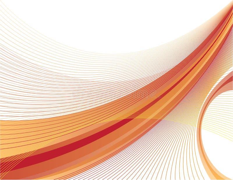 橙红swoosh 免版税库存照片
