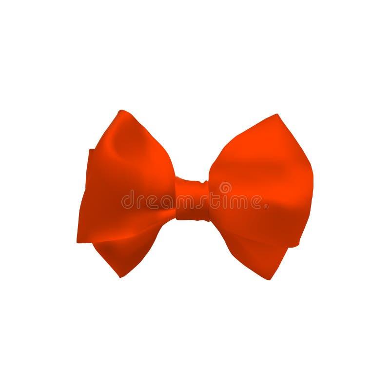 橙色三维弓 向量例证