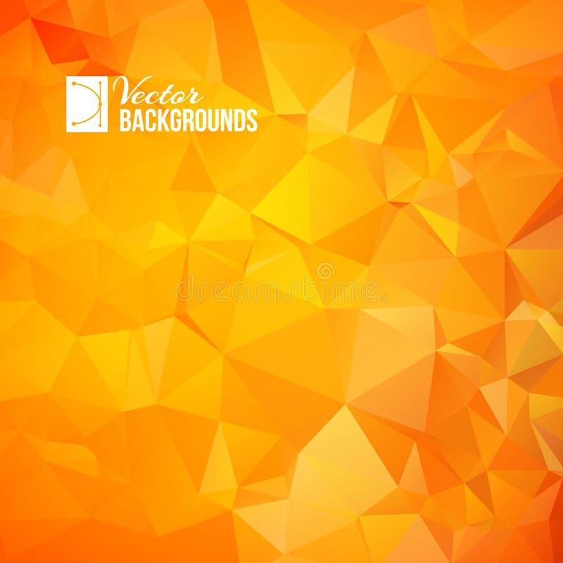 橙色三角 库存例证
