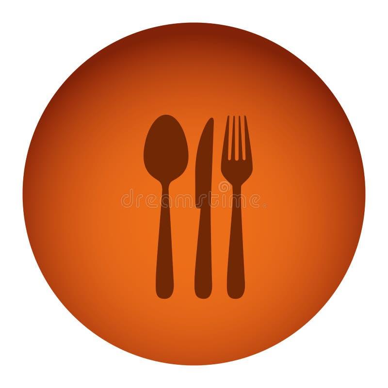 橙色与剪影利器的颜色圆框架 库存例证