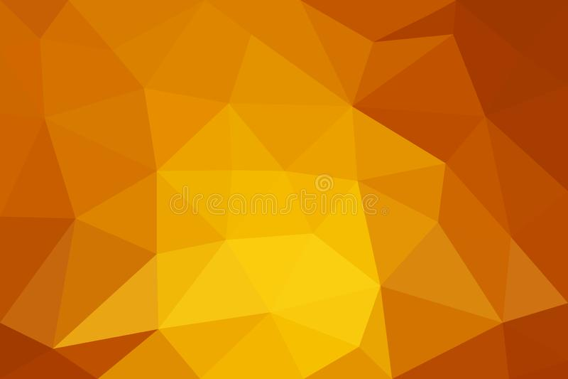 橙色低多背景 抽象多角形设计 皇族释放例证