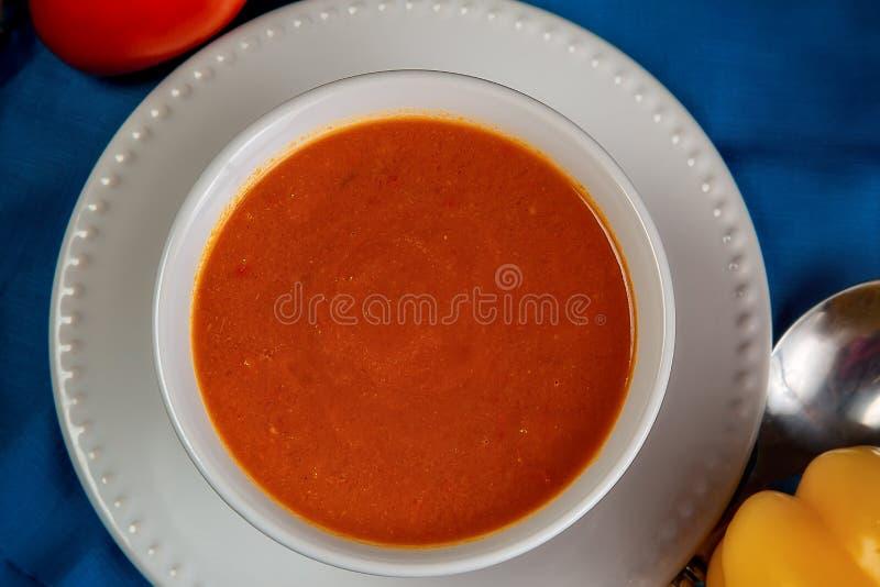 橙色健身汤 库存图片