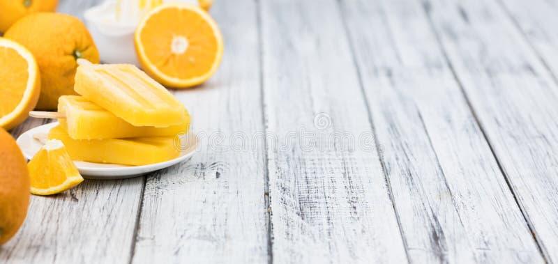 橙色冰棍儿选择聚焦 免版税库存照片