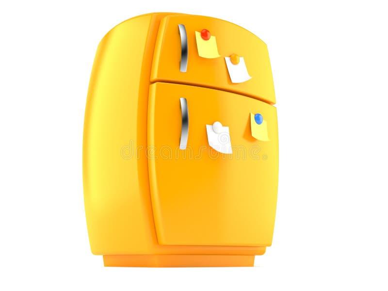 download 橙色冰箱 库存例证.