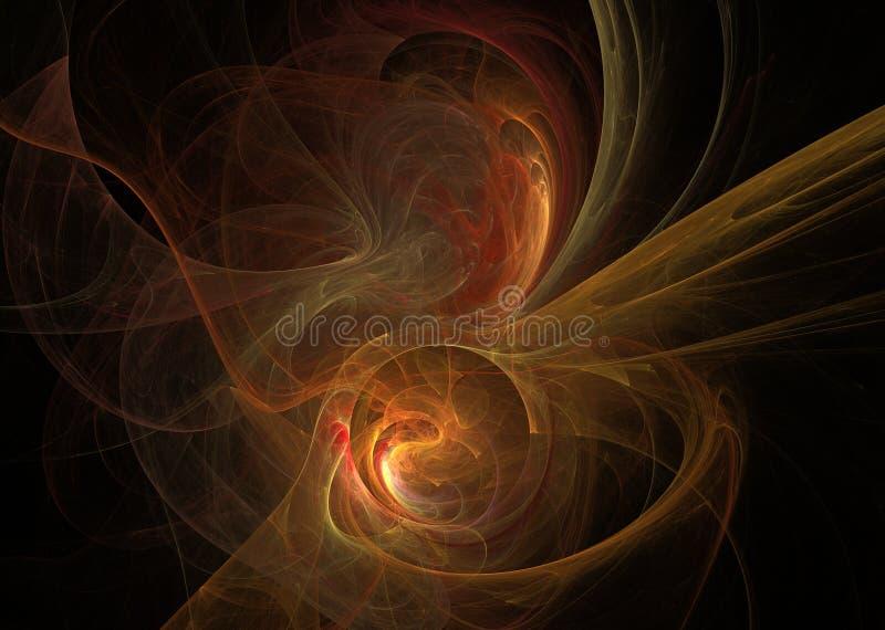 橙色分数维 抽象背景要素 库存照片