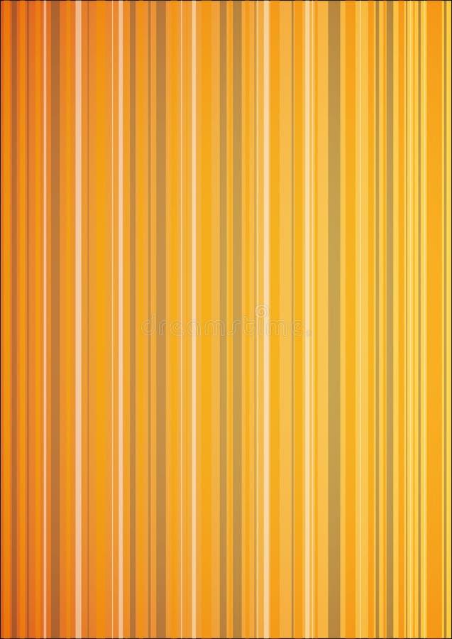 橙色升垂直条纹背景 库存例证
