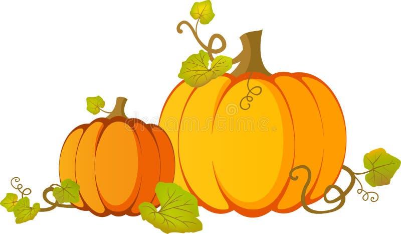 橙色南瓜导航例证,为了感恩&秋天设计 向量例证