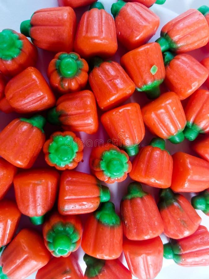 橙色南瓜糖果 库存照片