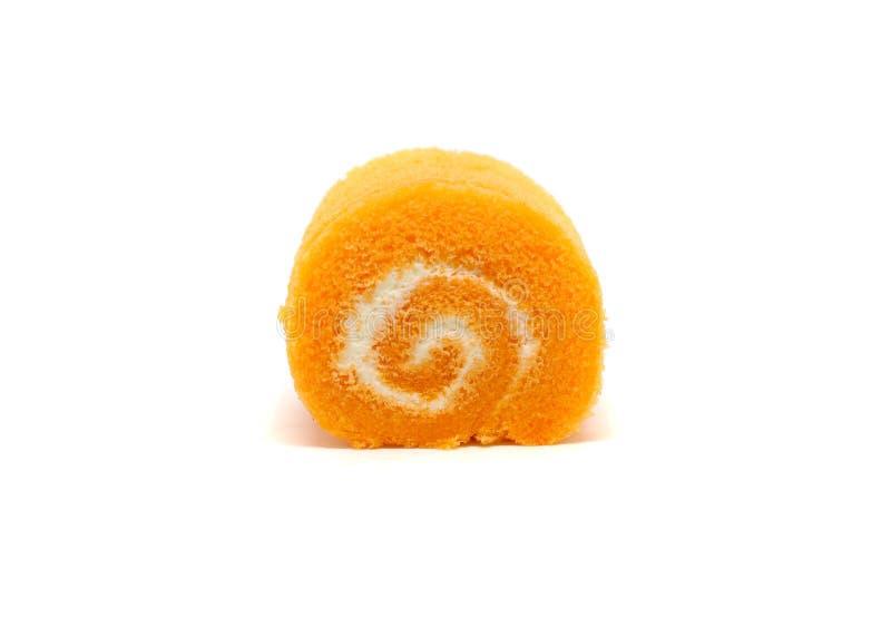 橙色卷蛋糕 免版税库存图片