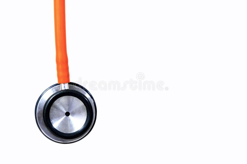 橙色听诊器 库存例证