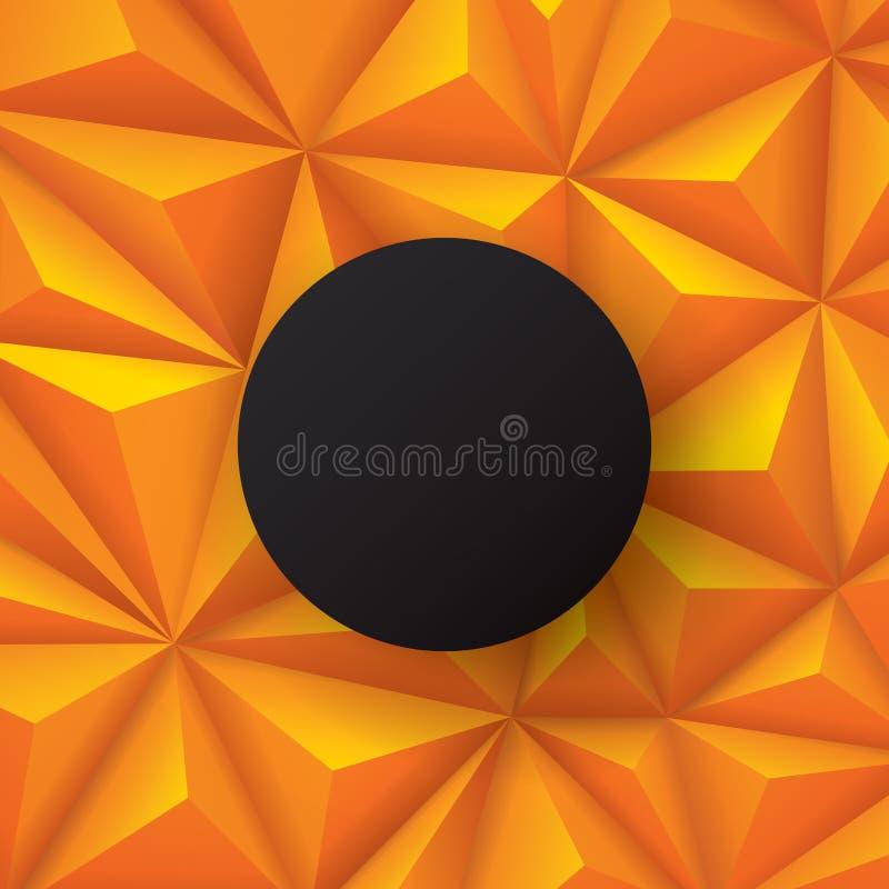 橙色和黑抽象背景传染媒介 向量例证