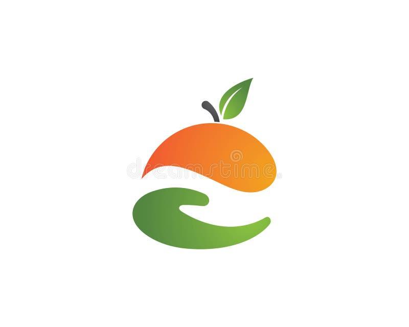 橙色商标设计 向量例证