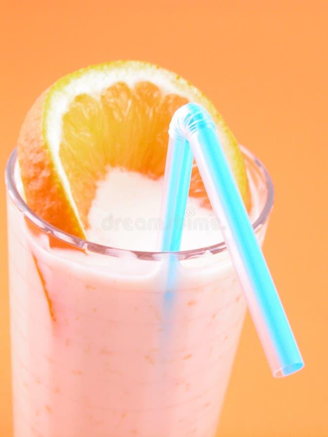 橙色圆滑的人 图库摄影