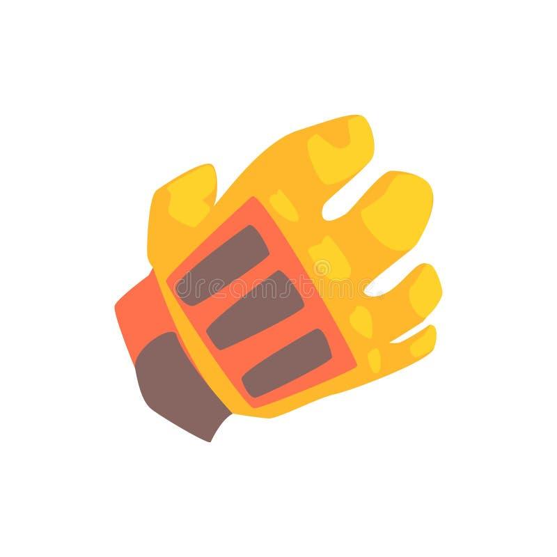橙色守门员手套动画片传染媒介例证 库存例证