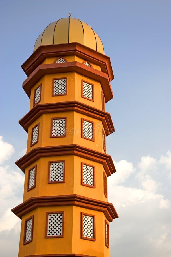 橙色尖塔塔 库存照片