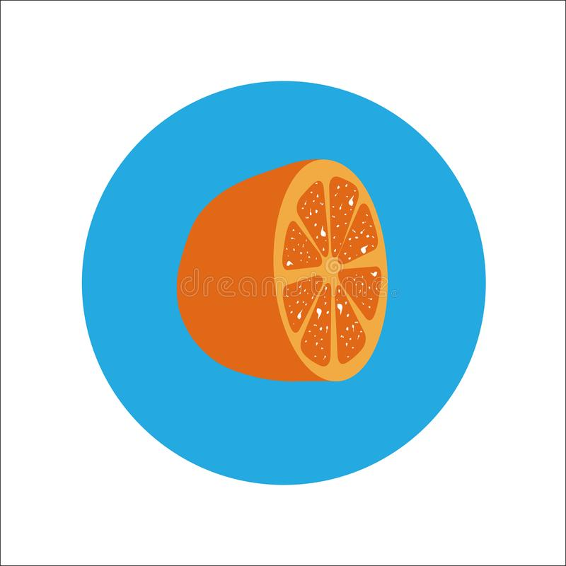 橙色平的象传染媒介 向量例证