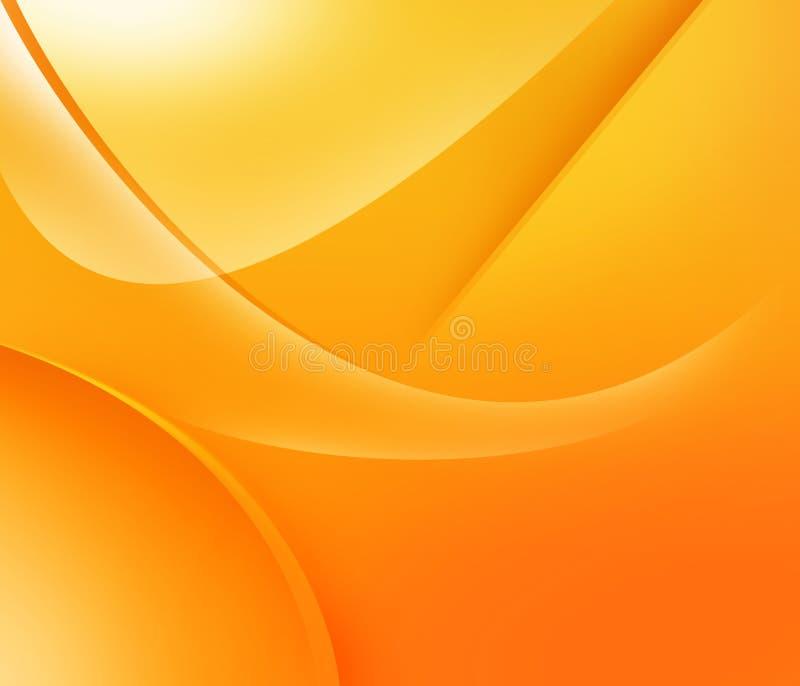 橙色形状黄色 库存例证