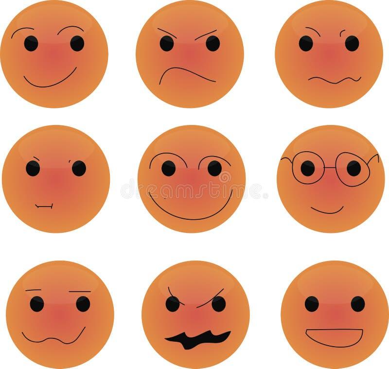 橙色微笑 免版税库存图片